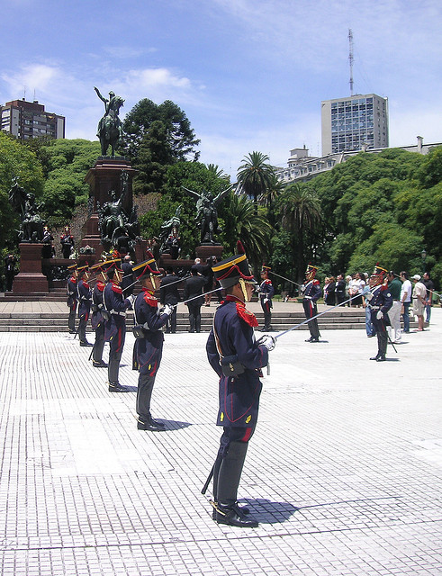 Argentina army guard immigration
