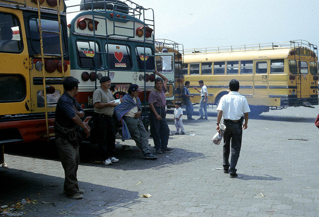 bus station honduras central latin south america