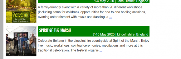 festivals in the UK